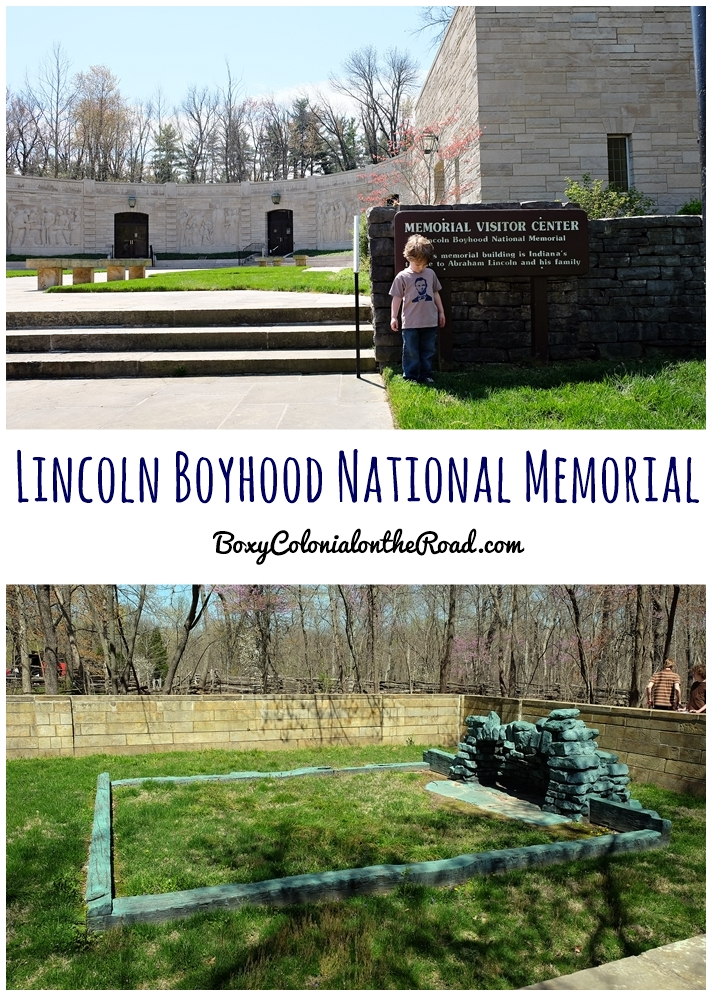 Visiting Lincoln Boyhood National Memorial NPS site with kids: junior ranger badges, trail of twelves stones