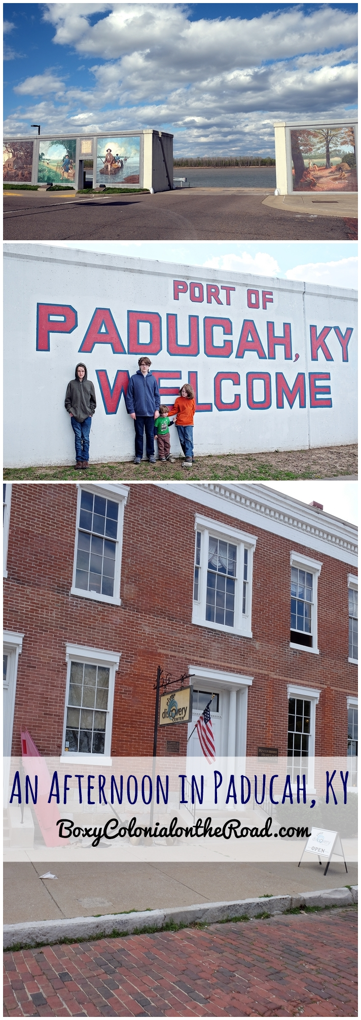 Afternoon in Paducah, KY with kids: River Discovery Museum, riverfront, downtown, floodwall murals