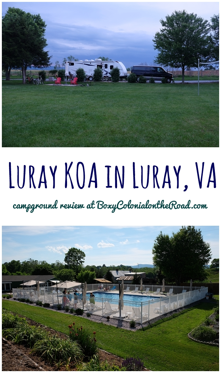 A review of our stay at the Luray KOA in Luray, VA, near Shenandoah National Park