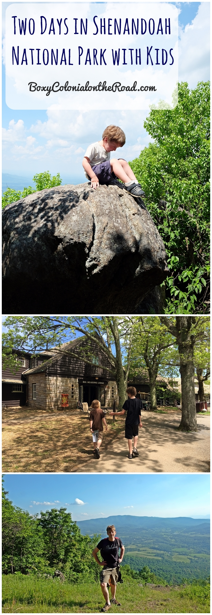 Two days in Shenandoah National Park with kids: junior ranger badges, visitors centers, hiking the Story of the Forest and Snead Farm trails