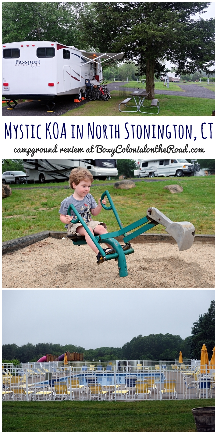 Campground review of the Mystic KOA in North Stonington, CT