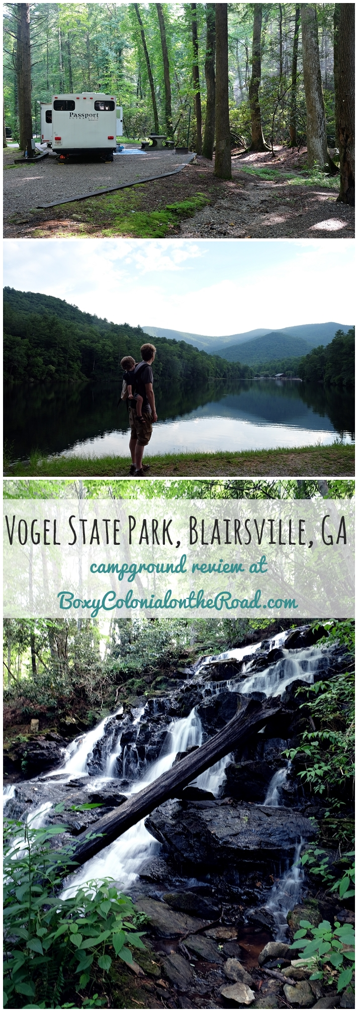 A few days at Vogel State Park in Blairsville, GA with kids: campground review and activities in the park