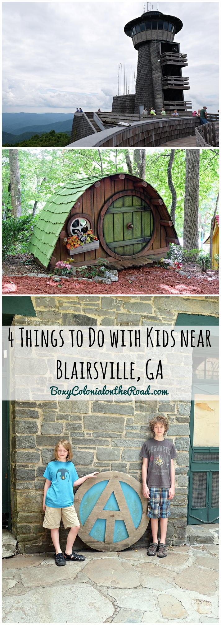 Exlporing the area around Blairsville, GA and Vogel State Park with kids: Brasstown Bald, Sleepy Hollow Enterprises, Helton Creek Falls, and Mountain Crossings at Walasi-Yi