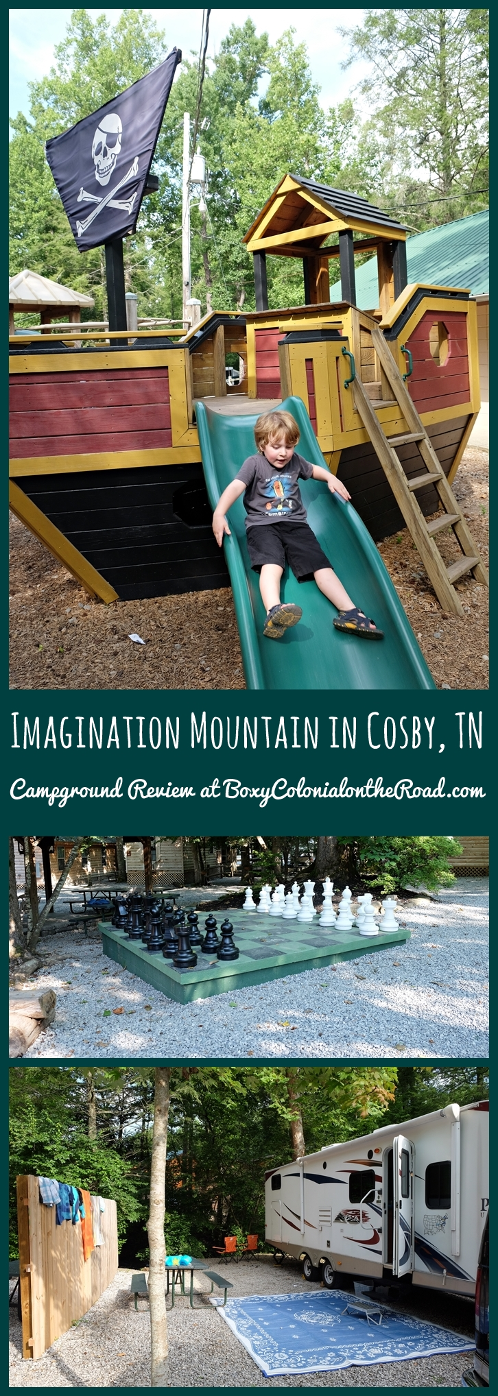 imagination mountain in cosby, tn campground review - boxy colonial