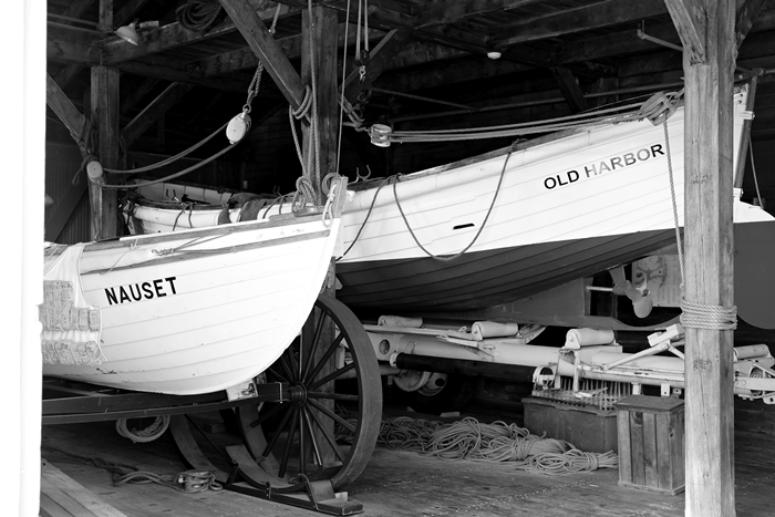 rescue boats at Old Harbor Light Saving Station, Provincetown, MA