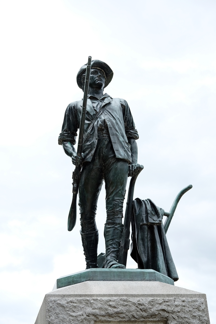 Minute Man Statue at Old North Bridge, Concord, MA