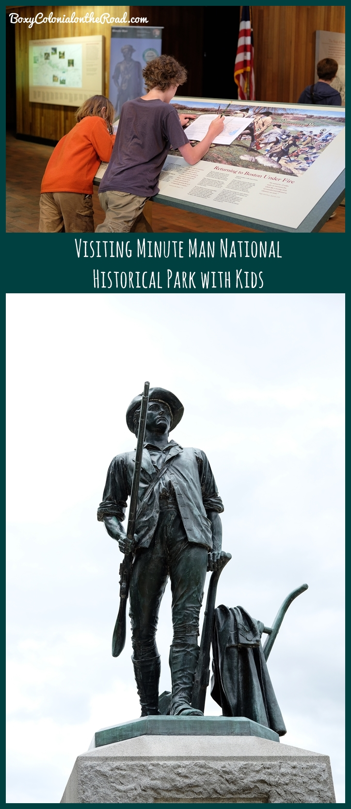 visiting the Minute Man National Historical Park in Lexington and Concord, MA with kids