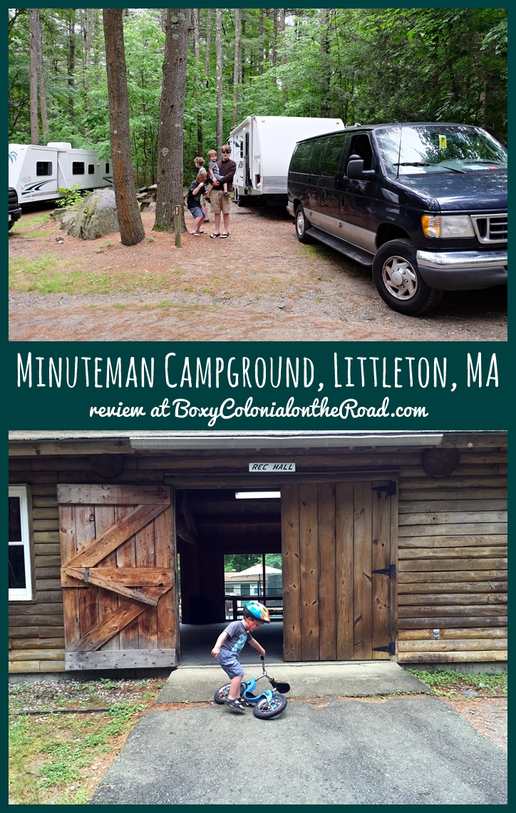 review of the Minuteman Campground in Littleton, MA: great option close to Boston