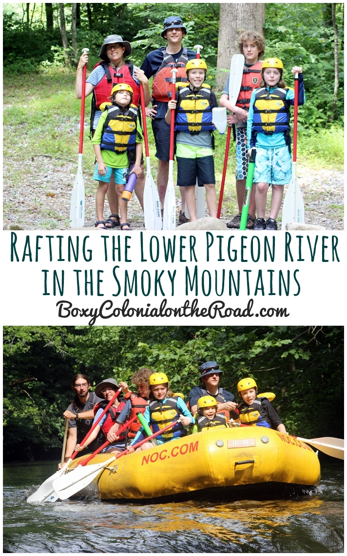 Taking kids rafting on the Lower Pigeon Gorge in the Smoky Mountains with the Nantahala Outdoor Company