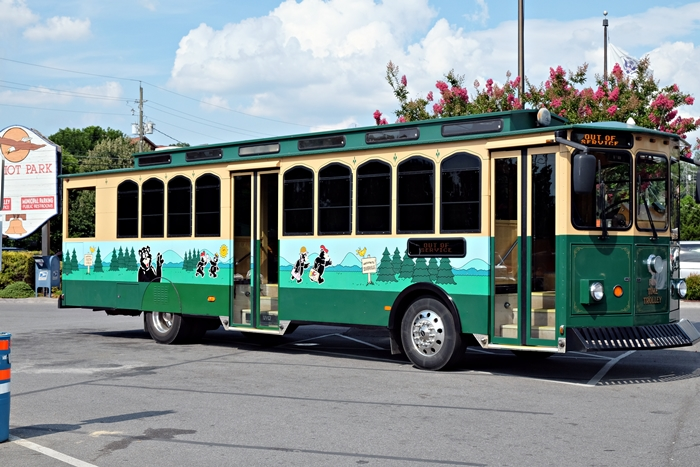 pigeon forge trolley