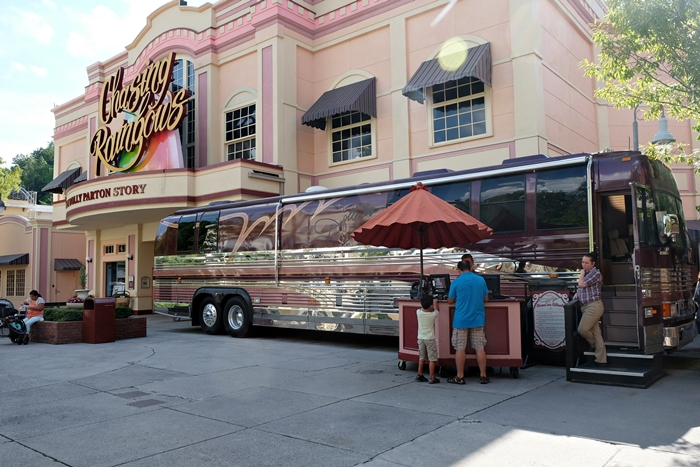 Dolly Parton tour bus at Dollywood