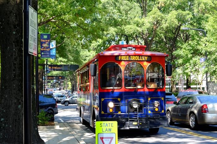 free trolley, greenville, sc
