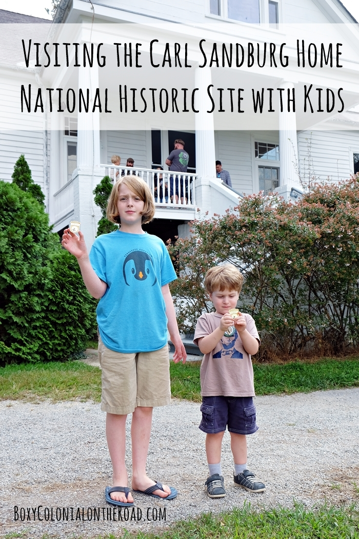 Our trip to the Carl Sandburg Home National Historic Site in Flat Rock, NC with kids: junior ranger badges and goats!