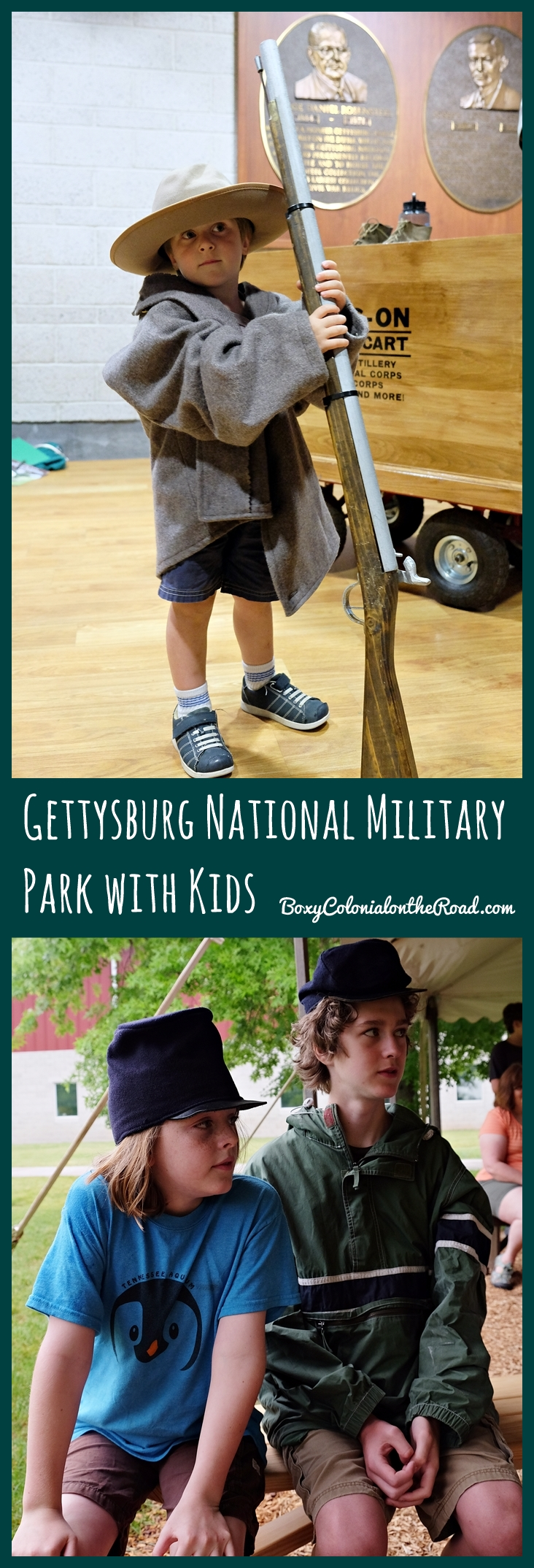 Two days in Gettysbury National Military Park with kids