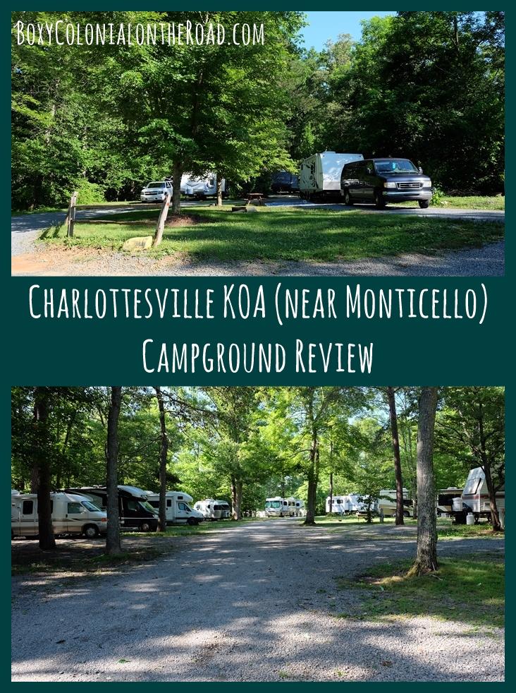 Our review of the Charlottesville KOA in Charlottesville, VA, near Jefferson's Monticello