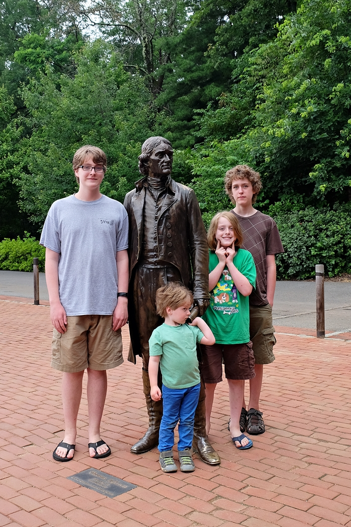 thomas jefferson and kids at monticello