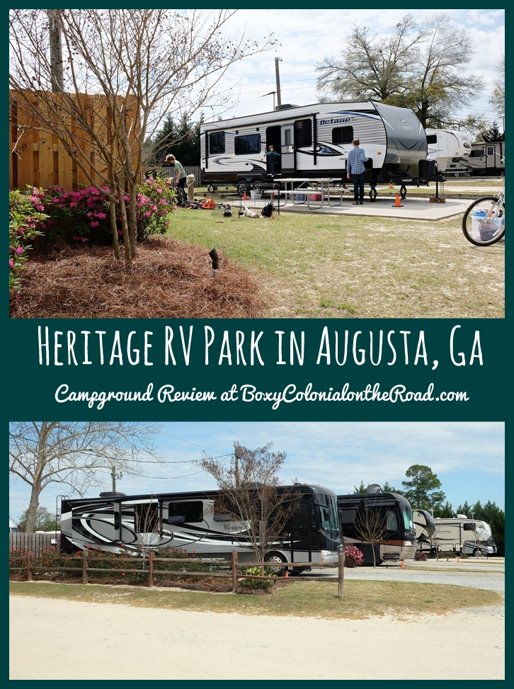 Heritage Rv Park In Augusta Ga Campground Review Boxy