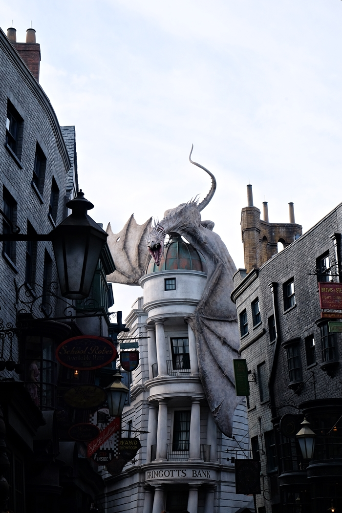 Gringott's dragon at Universal Studios