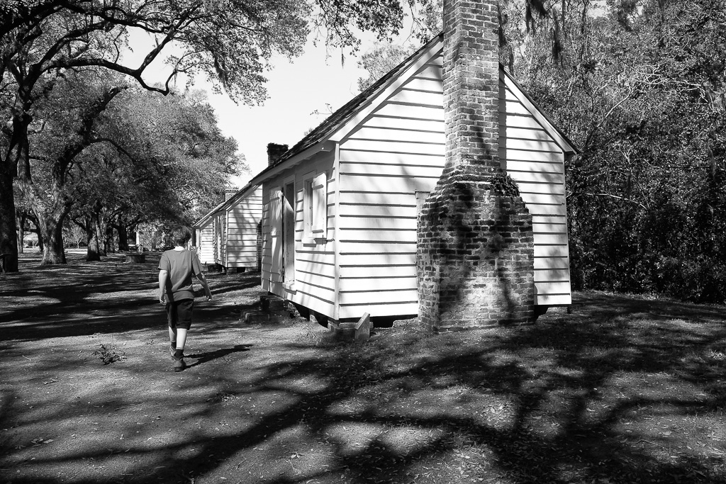 slave cabins at McCleod Plantation