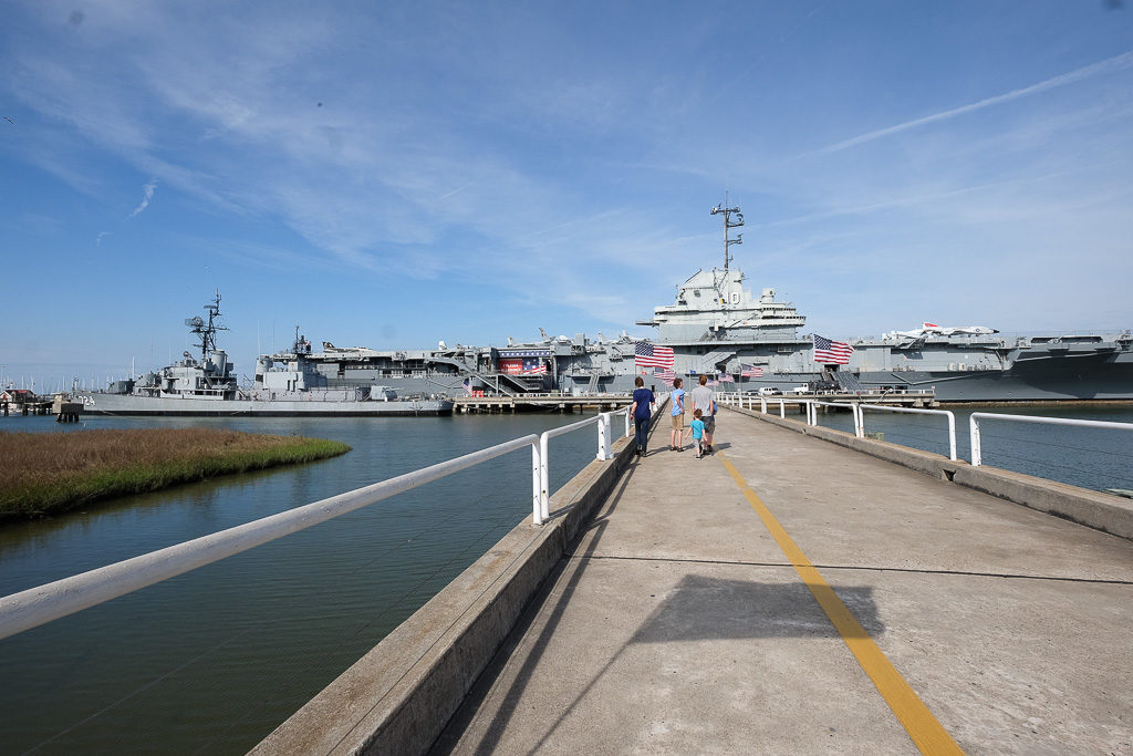 Ships and Submarines in Charleston, SC: USS Yorktown, Hunley, et. al.