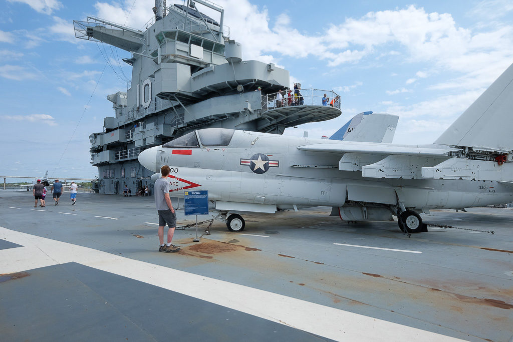 USS Yorktown flight deck