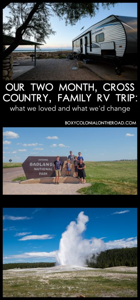 our cross-country family road trip: two months in an RV. What worked and what didn't!