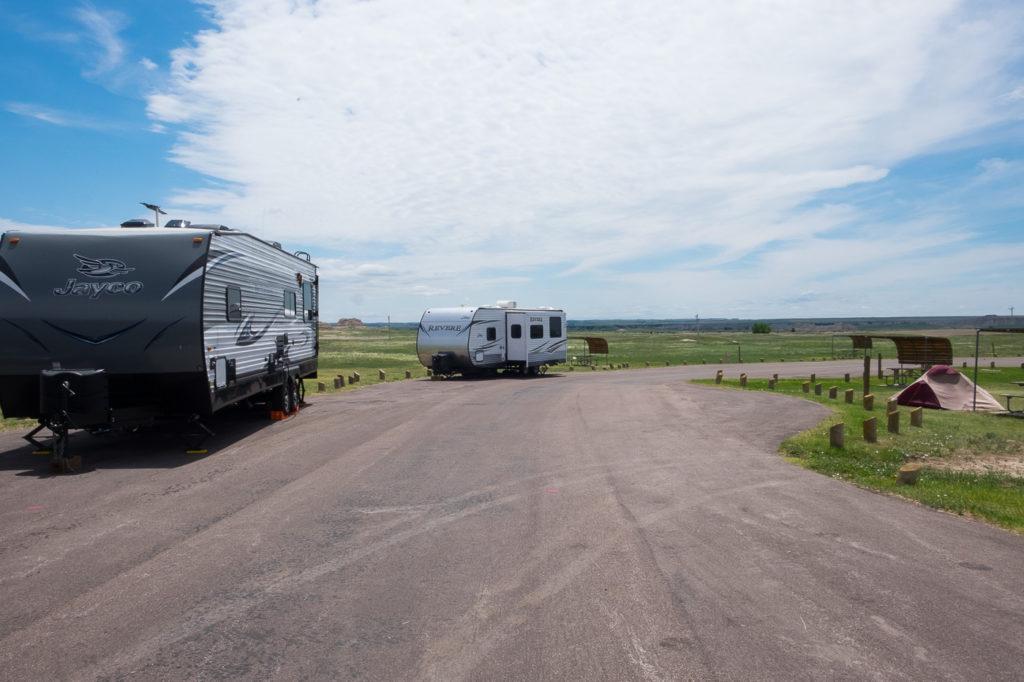 Cedar Pass campground, Badlands National park