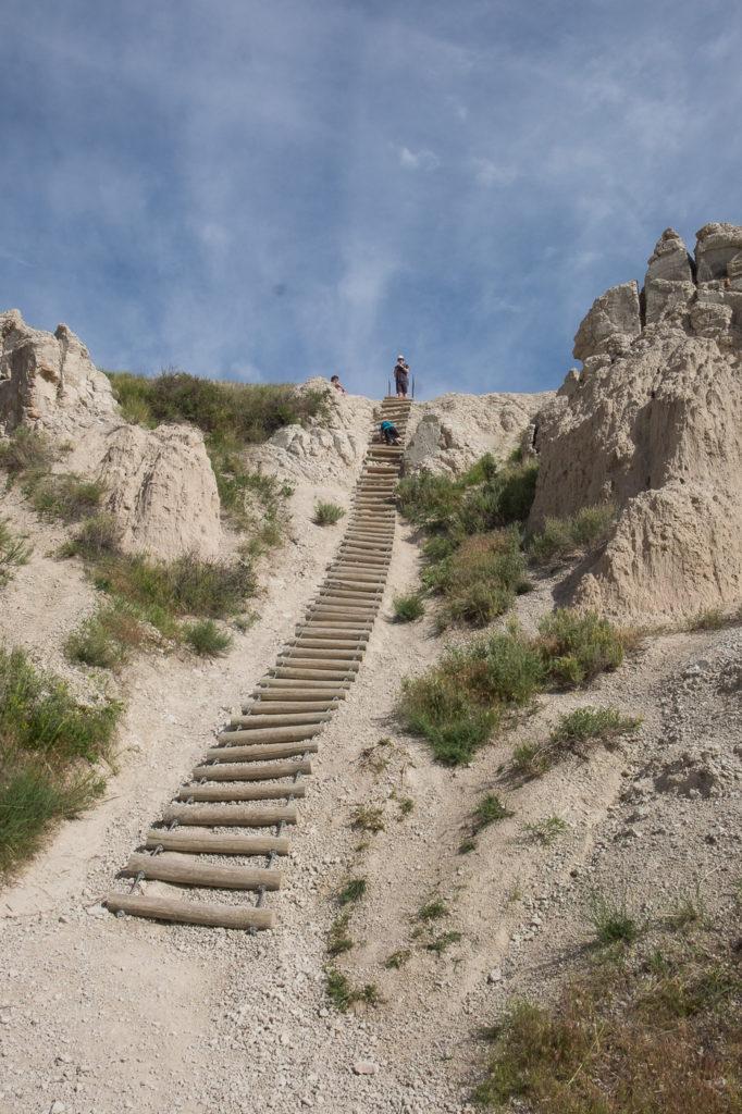 notch trail ladder, Badlands