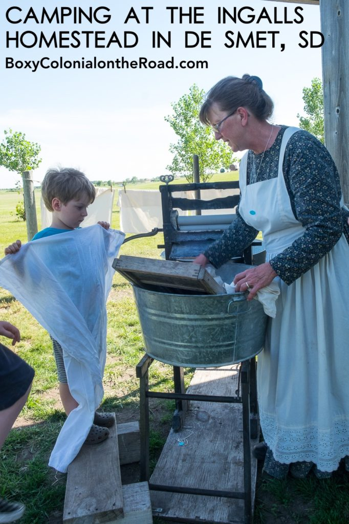 RV camping at the Ingalls Homestead in De Smet, SD: family RV travel