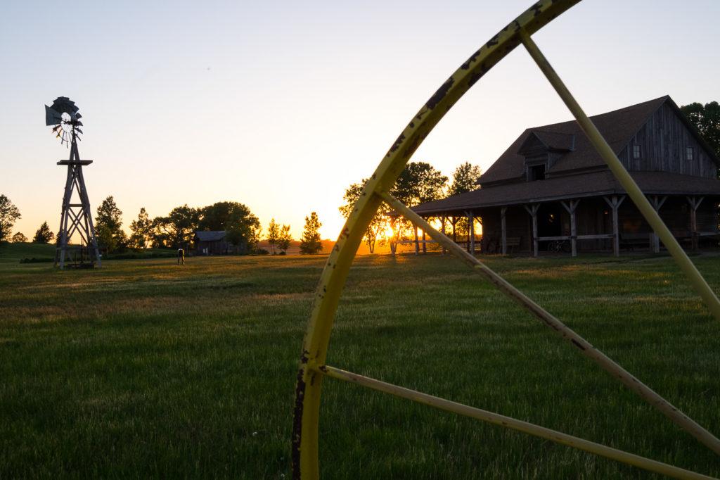 sunset at Ingalls Homestead