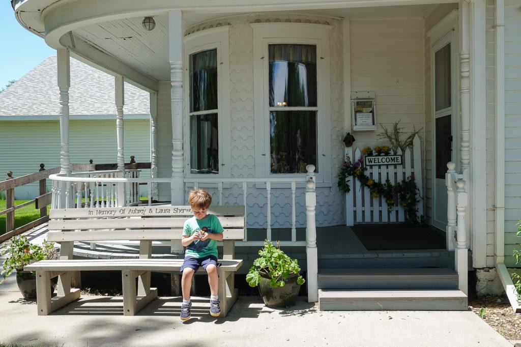 Abe sitting outside in De Smet, SD