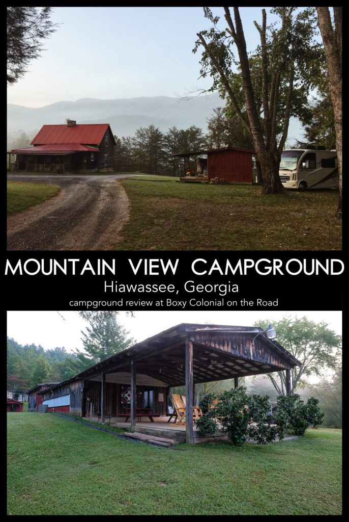 review of mountain view campground in hiawassee, Georgia #rving #campgroundreview #campground #georgia