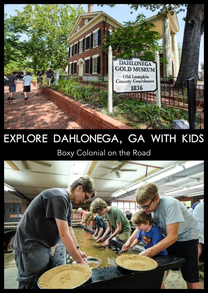 Things to do in Dahlonega, Georgia with kids: gold museum and touring the Consolidated Gold Mine