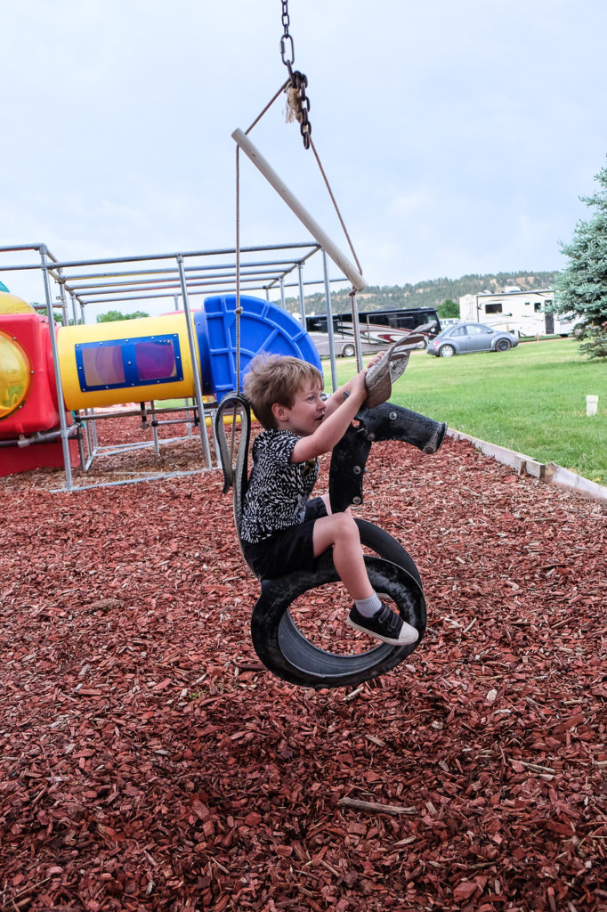 playground at devils tower koa