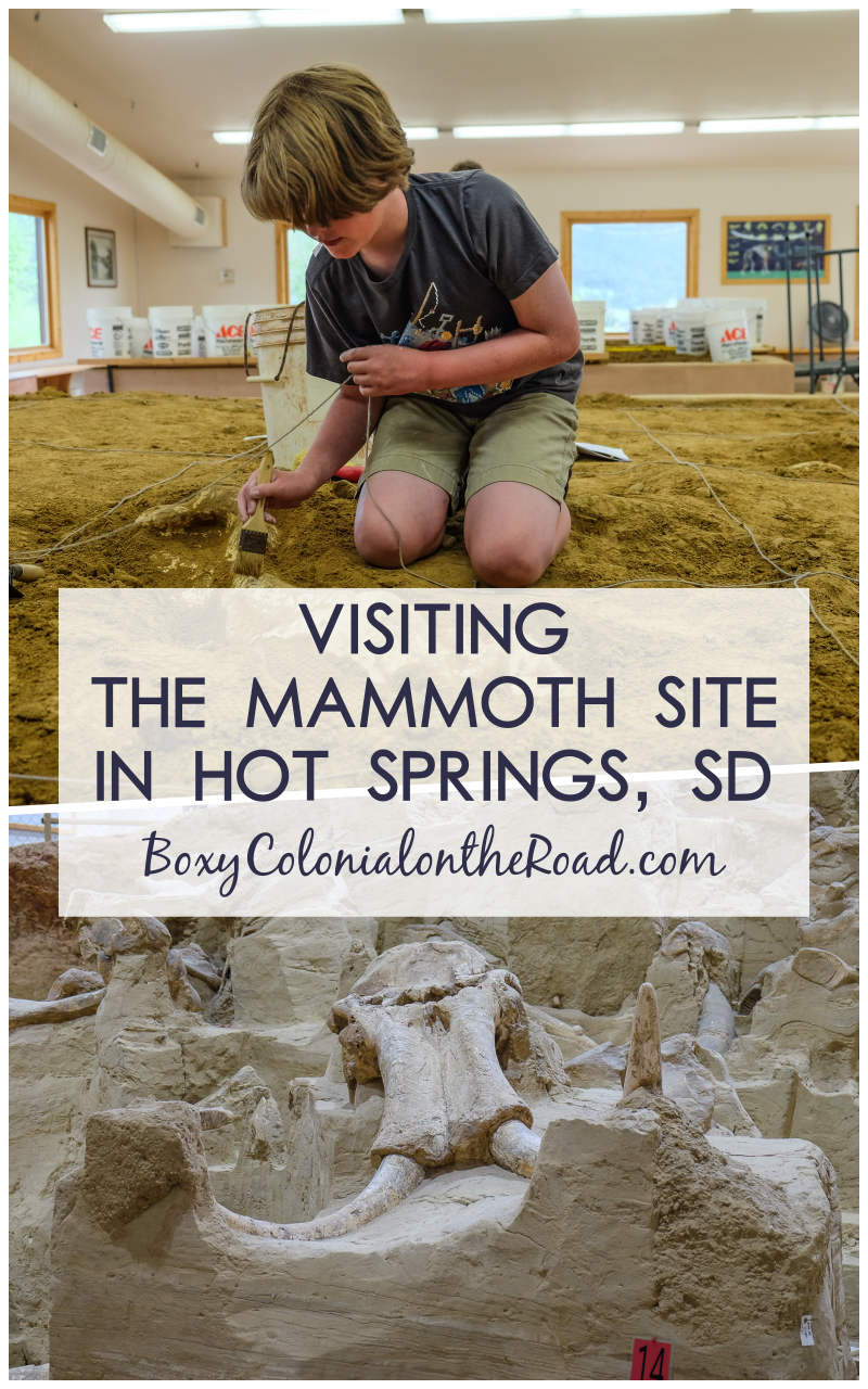 visiting The Mammoth Site in Hot Springs, SD in the Black Hills with kids, including the Junior Paleontologist program
