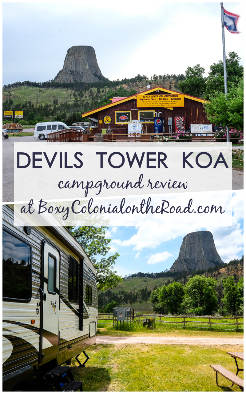 Campground review of Devils Tower KOA in Wyoming, just outside the gates of the first National Monument in the US #roadtrip #nps #familytravel #thatswy #wyomingtravel