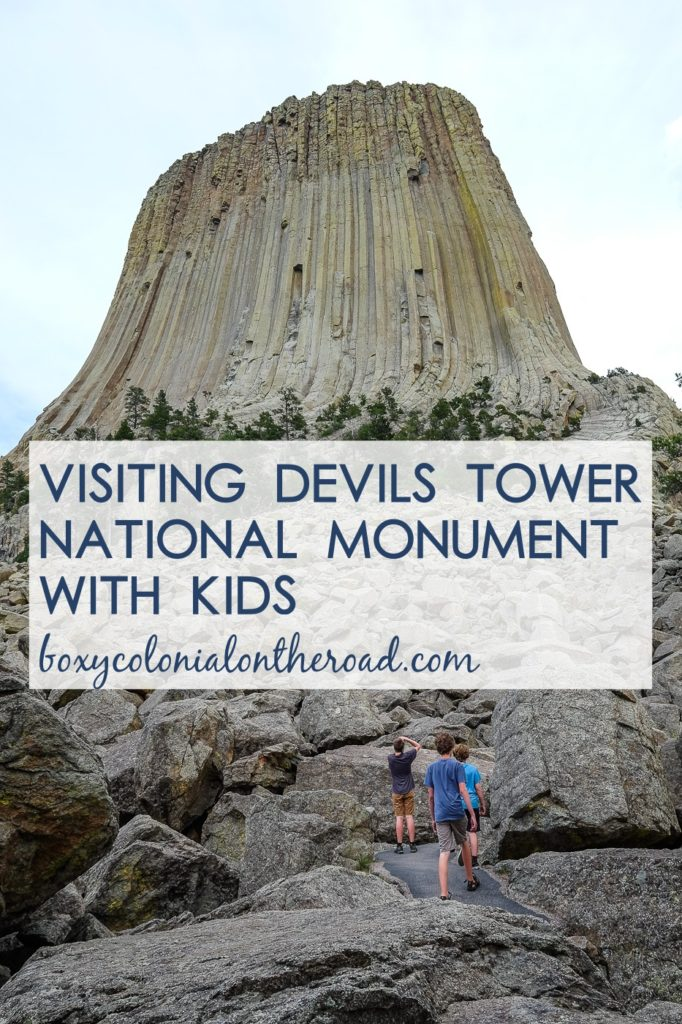 Visiting Devils Tower with kids: the United States' first National Monument, in Wyoming. Hike the tower trail and get a Junior Ranger badge