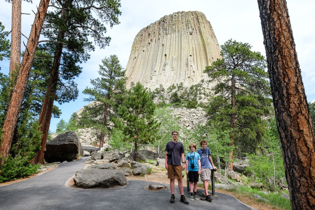 Devils Tower with kids