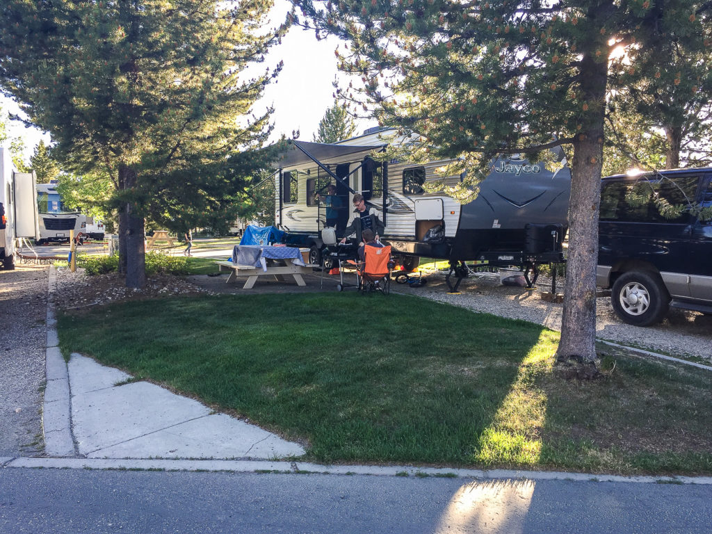 our site at Yellowstone Grizzly RV Park