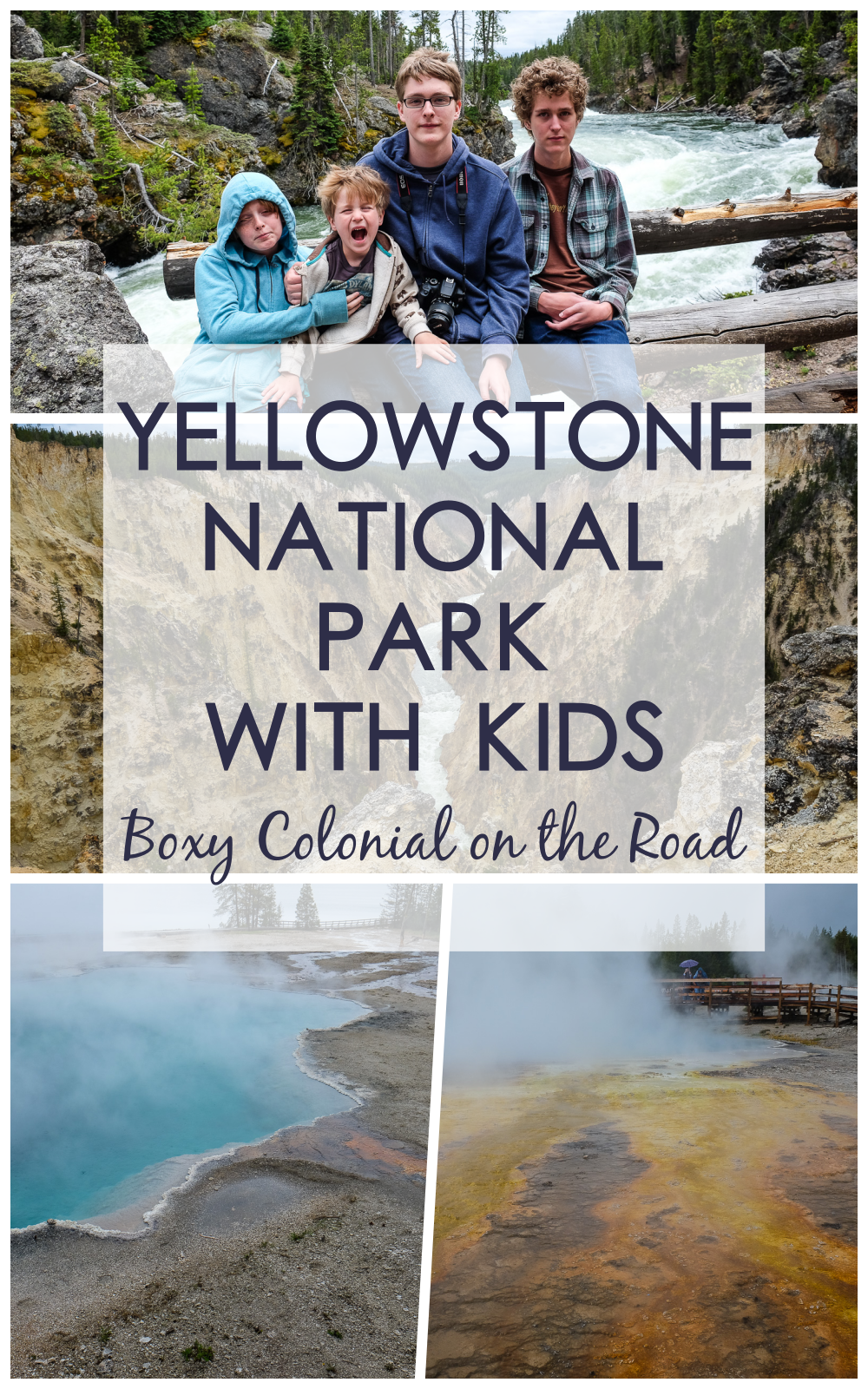 exploring the eastern half of the grand loop in Yellowstone National Park with kids: Fishing Bridge, Yellowstone Lake, Artist Point, Grand Canyon of the Yellowstone, West Thumb