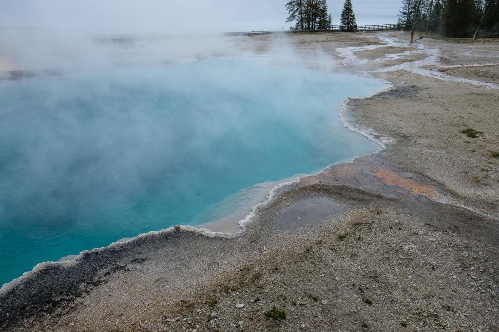 west thumb geyser basin at Yellowstone national park