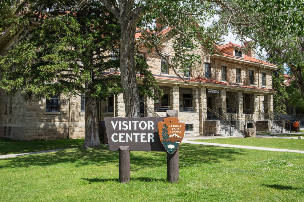 Albright Visitor Center in Mammoth Hot Springs, Yellowstone